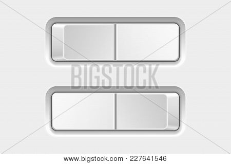 Switch Buttons. On And Off. Vector 3d Illustration