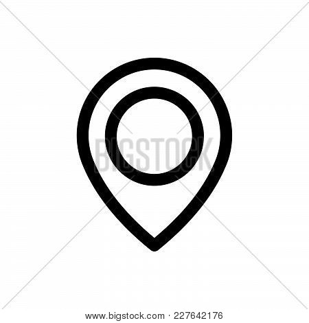 Location Icon Isolated On White Background. Pin Icon Modern Symbol For Graphic And Web Design. Point