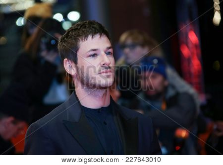 Gaspard Ulliel attends the 'Eva' premiere during the 68th l Film Festival Berlin at Berlinale Palast on February 17, 2018 in Berlin, Germany.