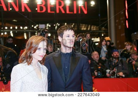 Isabelle Huppert, Gaspard Ulliel attends the 'Eva' premiere during the 68th l Film Festival Berlin at Berlinale Palast on February 17, 2018 in Berlin, Germany.