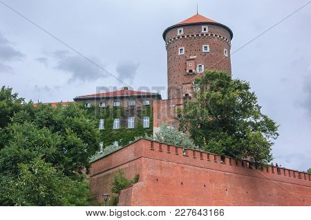 Wawel Royal Castle - Defensive Walls And Tower Of A Medieval Building