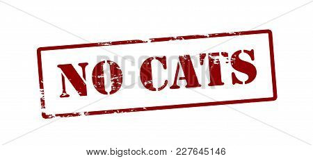 Rubber Stamp With Text No Cats Inside, Vector Illustration