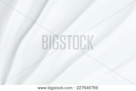 White Silk Drapery And Fabric Background. 3d Rendering