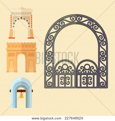 Arch Design Architecture Construction Frame Classic, Column Structure Gate Door Facade And Gateway B