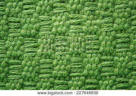 Green fabric closeup