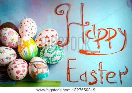 Children's Easter Pattern With Eggs