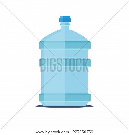 Mineral Water Bottle Isolated On White. Stock Flat Vector Illustration.
