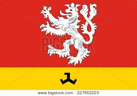 Flag Of Waldfeucht Is A Municipality In The District Heinsberg, In North Rhine-westphalia, Germany.