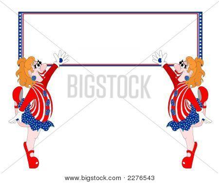 Usa Patriotic Duo Banner