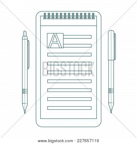 To Do List Contour Icon. Design Icon Do List, A Checklist, Task List. To Do List Theme Vector Illust