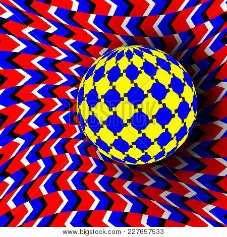 Illusion Vector. Optical 3d Art. Motion Dynamic Effect. Optical Effect. Swirl Illusion. Hypnosis Fal