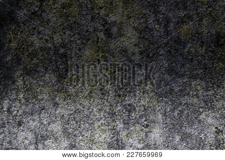 Granite Rock Closeup Background, Stone Texture, Cracked Surface