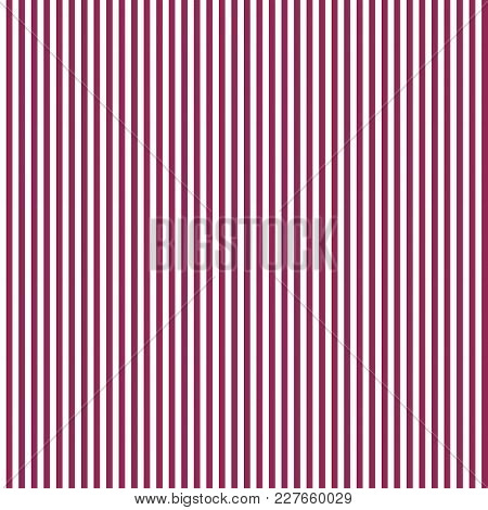 Seamless Pattern With Vertical Stripes Of White And Burgundy Color. Color Geometric Background.
