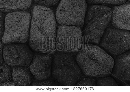 Monochrome Background From Stones, Simplicity Texture For Web Site Or Mobile Devices