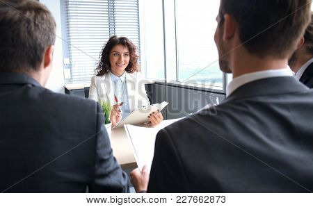 Job Interview With The Employer, Businessman Listen To Candidate Answers