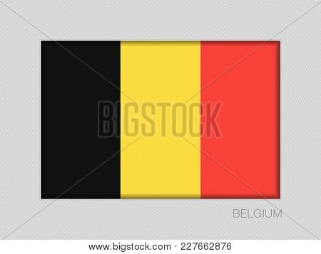 Flag Of Belgium. National Ensign Aspect Ratio 2 To 3 On Gray