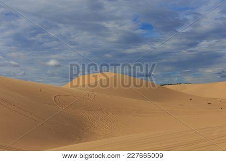 Red Sand Dune At Mui Ne Vietnam
