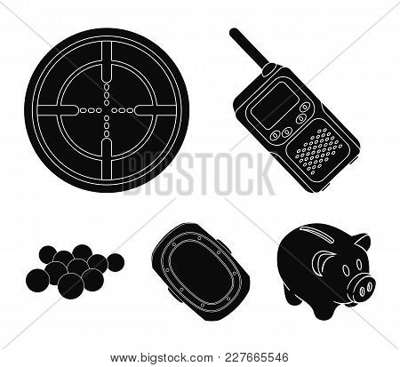 Balls With Paint And Other Equipment. Paintball Single Icon In Black Style Vector Symbol Stock Illus