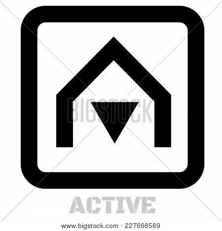 Active Conceptual Graphic Icon. Design Language Element, Graphic Sign.