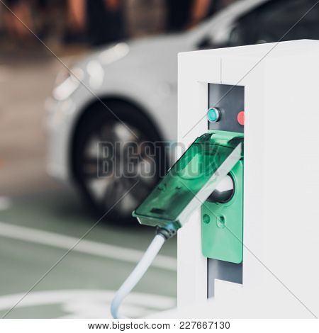 Electric Vehicle Charging Stations, Square Image, Color Image