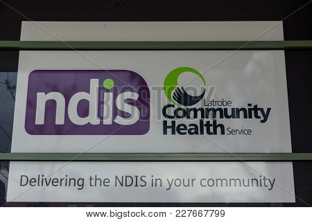 Ararat, Australia - October 21, 2017: Latrobe Community Health Service Is An Ndis Supplier. This Is