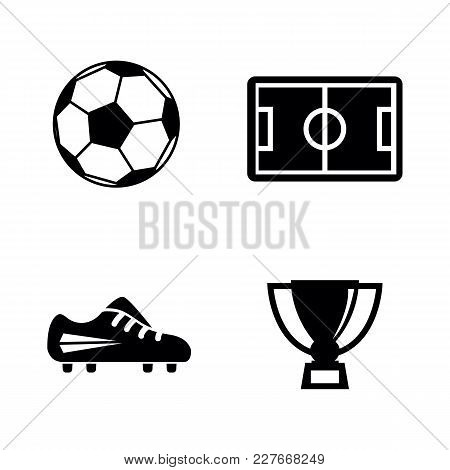 Football. Simple Related Vector Icons Set For Video, Mobile Apps, Web Sites, Print Projects And Your