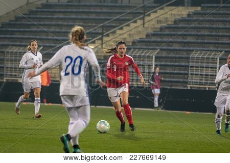 Moedling, Austria, 23th November 2017: Sarah Zadrazil At Fifa Wm Qualification Ladies Austria Vs Isr