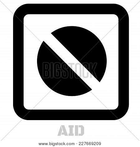 Aid Conceptual Graphic Icon. Design Language Element, Graphic Sign.