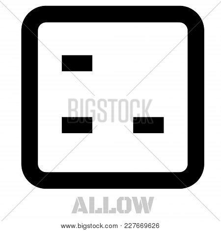 Allow Conceptual Graphic Icon. Design Language Element, Graphic Sign.