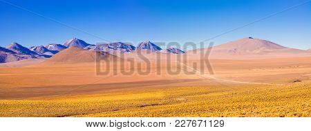 Altiplano Landscape At Over 4000 Meters Of Altitude, Atacama Desert, Chile, South America