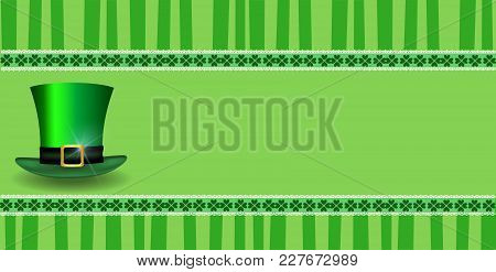 Patricks Day Template With Clover  Lace And Leprechaun's Hat