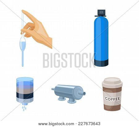 System, Balloon, Hand, Trial .water Filtration System Set Collection Icons In Cartoon Style Vector S