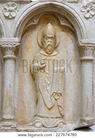 DUBROVNIK, CROATIA - NOVEMBER 08: Part of polyptich from the first half of the 15th century in the convent of the Friars Minor in Dubrovnik, November 08, 2016.