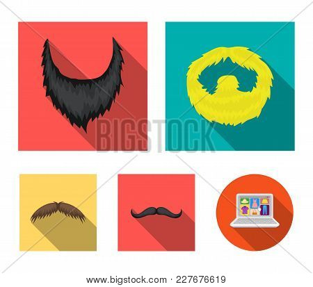 Man's Beard And Mustache.beard Set Collection Icons In Flat Style Vector Symbol Stock Illustration W