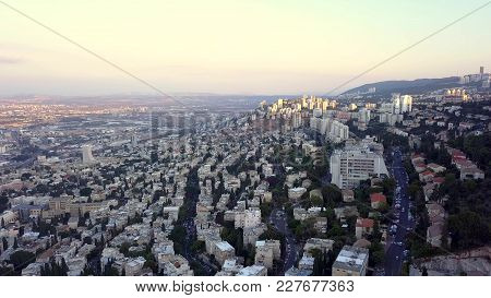 Flyover Of Israel On A Sunny Day During Summer