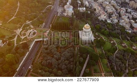 Flyover Of A Park In Israel On A Sunny Day During Summer