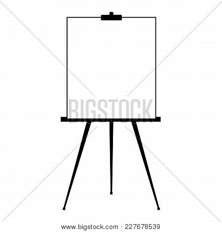 Advertising Stand Or Flip Chart Or Blank Artist Easel Isolated On White Background. Presentation Bla