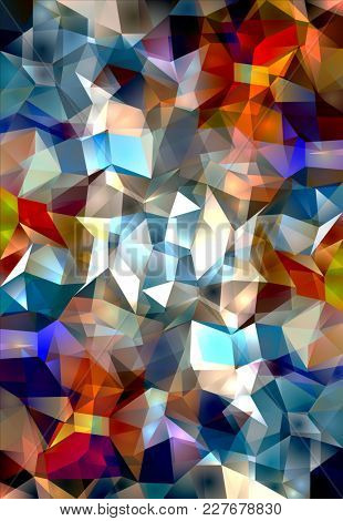 Polygonal Vibrant Color Background. 3D rendering
