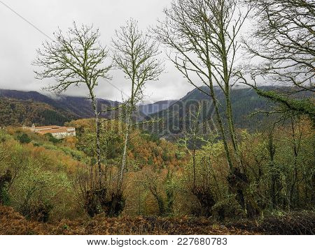Landscapes Of The Ribeira Sacra In The Cañones Del Río Sil In Ourense, Galicia. Spain