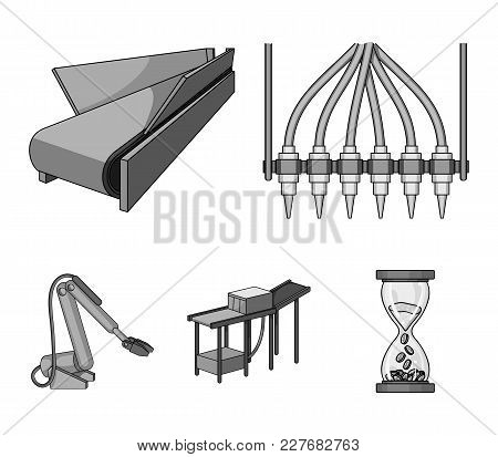 Modern Equipment And Other  Icon In Monochrome Style.machine Tools And Equipment Factory Icons In Se
