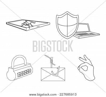 Hacker, System, Connection .hackers And Hacking Set Collection Icons In Outline Style Vector Symbol