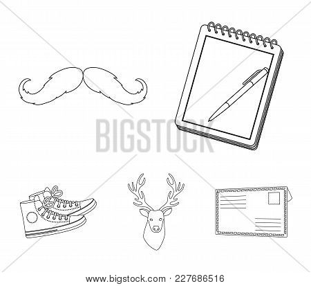 Hipster, Fashion, Style, Subculture .hipster Style Set Collection Icons In Outline Style Vector Symb