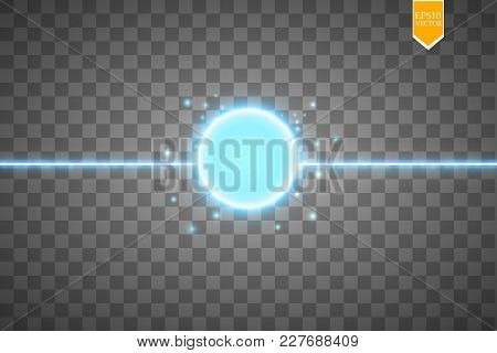 Blue Energy Ring Abstract.conceptual Vector Design With Free Area In Center For Any Object. Vector