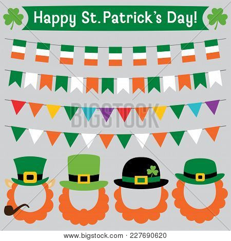 St. Patricks Day Leprechaun Photo Booth Props And Decoration