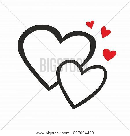 Vector Simple Heart Symbol Or Love Sign. Linear Logo Element For Wedding
