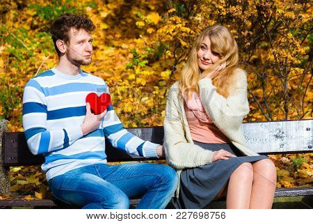 Accepting And Sharing Feelings. Confessing Love And Affection With Romantic Gesture. Positive Reacti