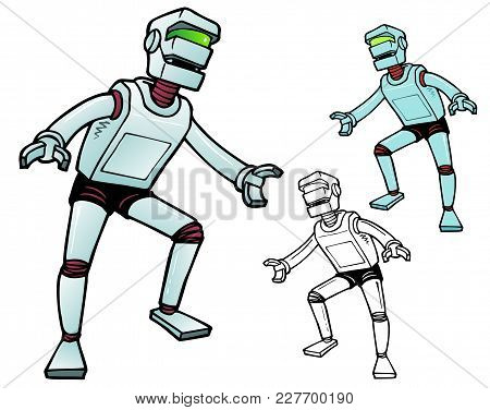 Fifties Style Mechanical Man Ready For Action. Comes With Two Bonus Variations