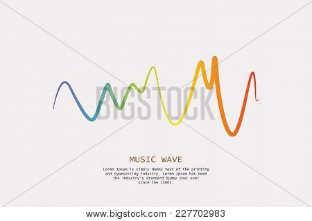 Pulse Music Player. Audio Colorful Wave Logo. Vector Equalizer Element. Isolated Design Symbol.