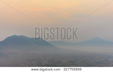 Morning Sky With Beautiful Mountain Views In The Morning