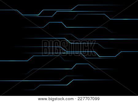 Abstract Blue Circuit Light Technology Power Design Modern Futuristic Background Vector Illustration